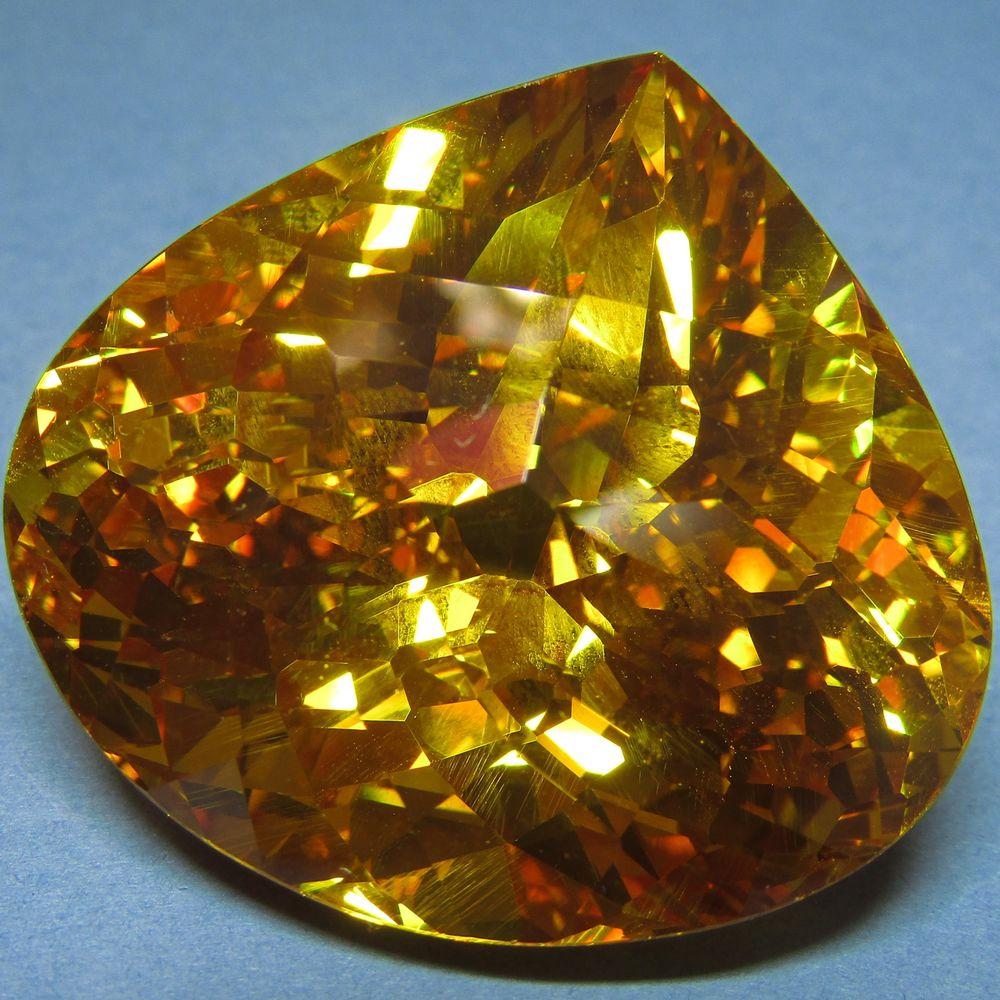 камень желтый сапфир