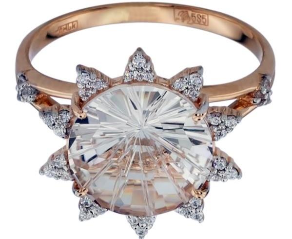 кольцо горный хрусталь