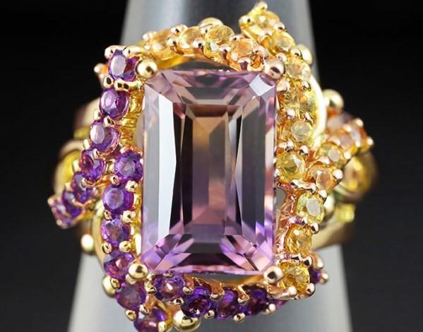 кольцо с аметрином