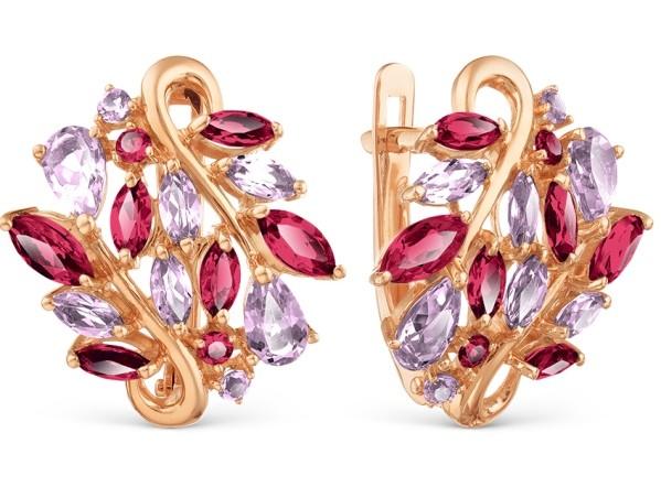 ювелирные украшения с розовым камнем