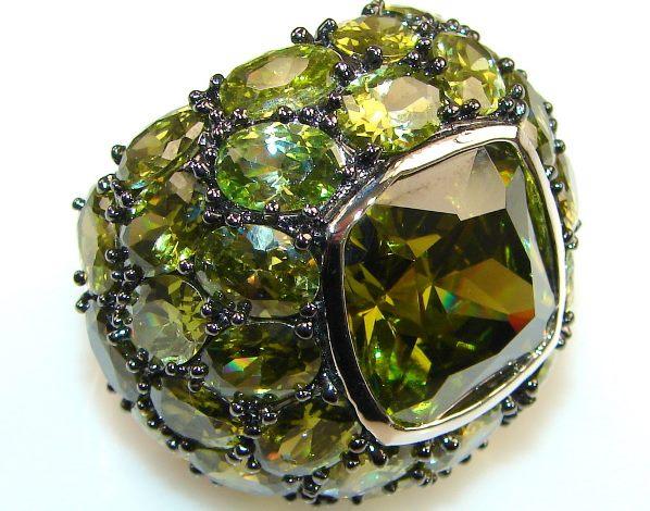 кольцо с диопсидом