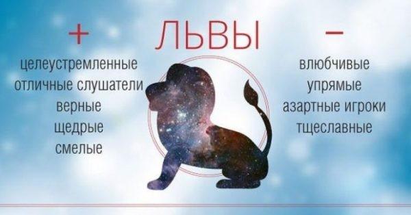 Основные характеристики знака Лев