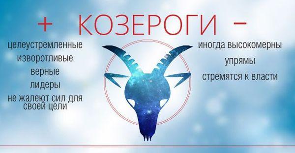 Знак Зодиака Козерог: характеристики