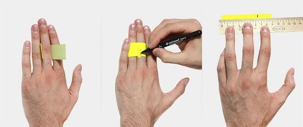 Как узнать размер кольца при помощи бумажной полоски