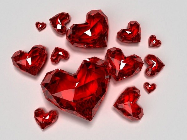 Сердечки из рубина