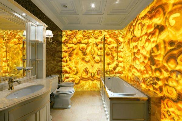 Желтый оникс в интерьере