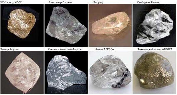 крупные алмазы России