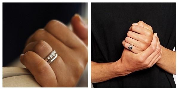 Кольца на левой руке